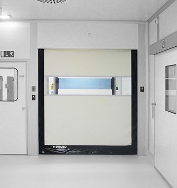 dynaco life sciences high speed roll doors